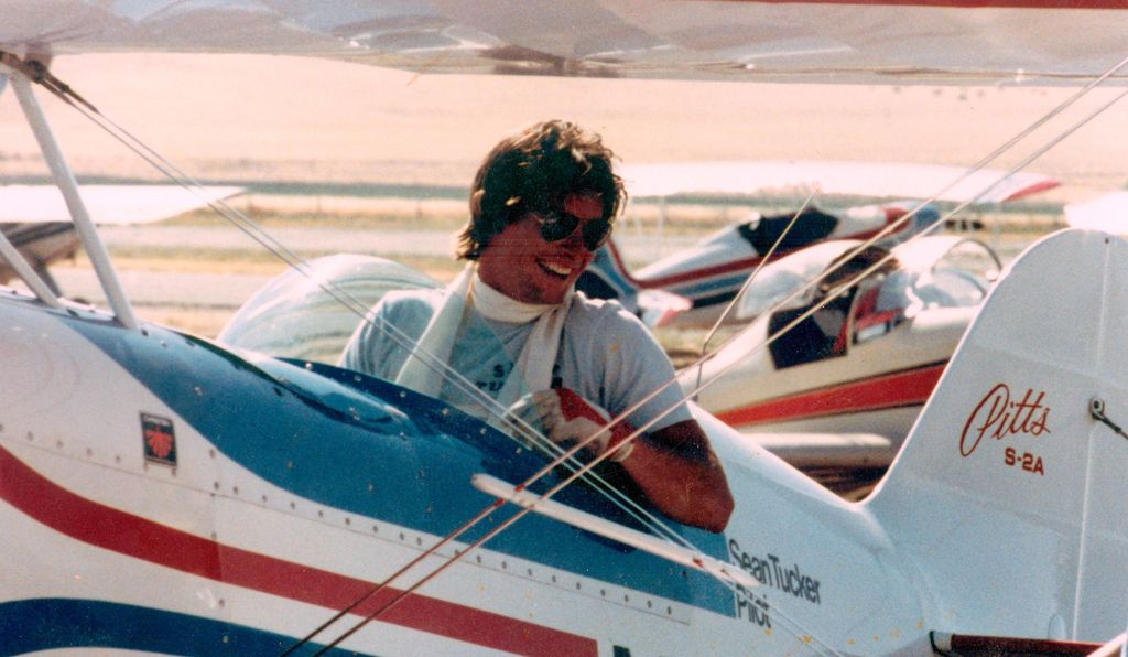 In the '70s in his first Pitts biplane, aviator scarf 'round his neck, Tucker set out to be an airshow star.