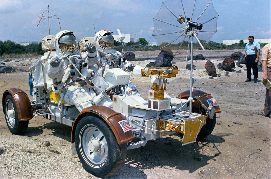 Lunar rover on beach