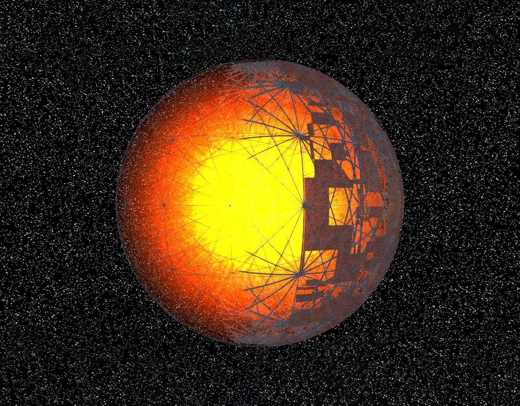 artist's conception of structure around a star