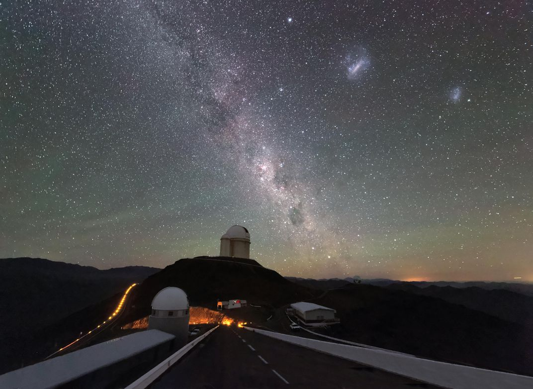 Centaurus constellation in sky above observatory